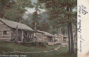 A MAINE Sporting Camp , 1906