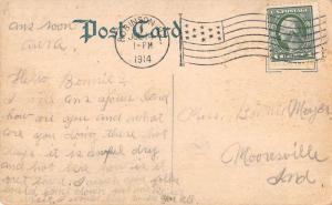 Robinson Illinois Cross Street Scene Historic Bldgs Antique Postcard K69056
