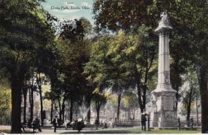 Ohio Elyria Scene In Elyria Park 1910 Curteich