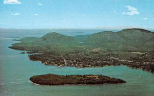 Bar Harbor Maine Aerial View from Frenchman Bay Vintage Postcard JA4741405