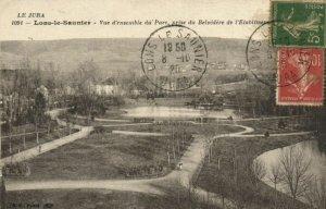 CPA LONS le SAUNIER - Vue d'ensemble du Parc prise du Belvedere (150086)