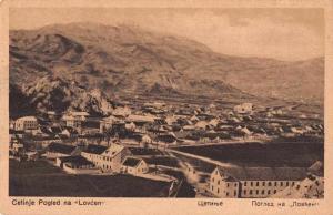 Lovcen Montenegro ? View of Town Birds Eye View Antique Postcard J77924