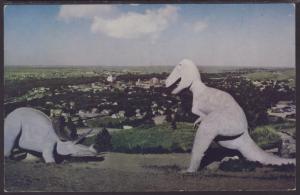 Dinosaurs,Rapid City,SD Postcard