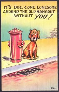 It's Dog Gone Lonesome...,Dog,Fire Hydrant,Comic