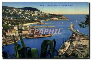 Postcard Old Nice Mont Boron and the Port of Entry