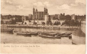 London, The Tower of London from the Rier Tuck View Series PC # 1150