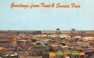 HARRINGTON, DE Delaware  KENT & SUSSEX FAIR~Amusement Rides FERRIS WHEEL  Chrome