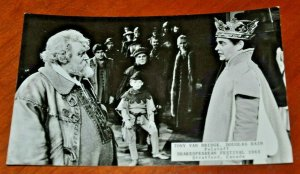 Canada, Stratford 1965 Shakespearean Festival Falstaff Postcard RPPC Bridge Rain