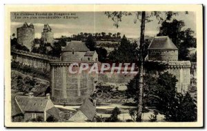 Old Postcard Chateau Feodal Fougeres and More Fun for con iderable of Europe