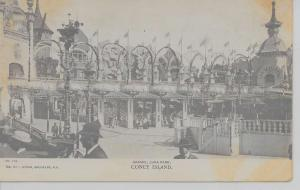 Coney Island New York arcade at Luna Park glittered antique pc Z17930