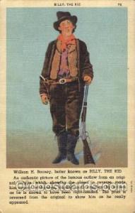 William H. Bonney  Western Cowboy, Cowgirl Postcard Postcards  William H. Bonney