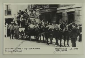 pp0900 - Kent Canterbury - Stage Coach outside The Rose Hotel - Pamlin postcard