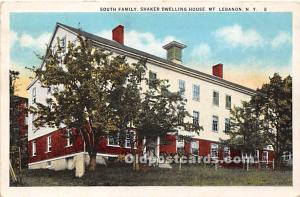 Old Vintage Shaker Post Card South Family,  Dwelling House Mount Lebanon, New...