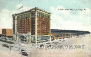 La Salle Street Depot, Chicago, IL USA Train Railroad Station Depot Post Card...