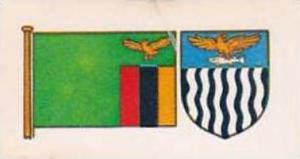 Brooke Bond Tea Vintage Trade Card Flags &  Emblkems Of The World No 20 Za...