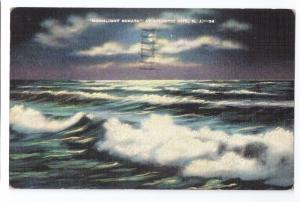Surf Sea Moonlight Sonata at Atlantic City NJ 1942 Linen