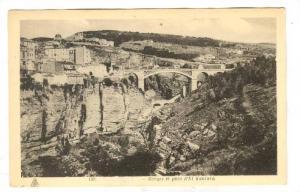 Constantine, Algeria, 1910-30s ; Gorges et pont d'El Kantara