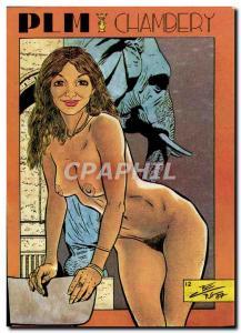 Postcard Modern Naked erotic illustrator Charles Berg PLM Chambery