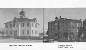 F24/ Vernon Center Ohio Postcard c1940s 2View School House