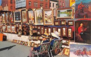 USA New York City greenwich Village Sidewalkd Artists