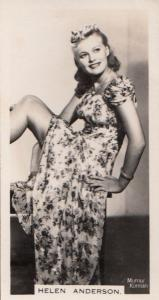 Helen Anderson Hollywood Actress Rare Real Photo Cigarette Card