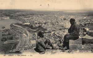 Algeria Oran Vue Generale Panoramic view Harbour Postcard