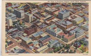 Indiana South Bend Aerial View Of Buisness District 1948 Curteich