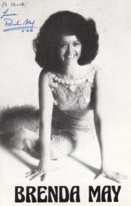 Brenda May Singer 1970s Hand Signed Photo