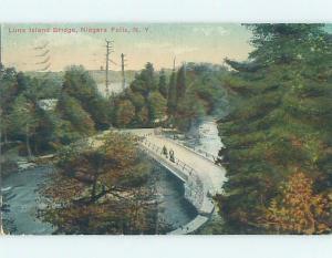Divided-Back POSTCARD FROM Luna Island - Niagara Falls New York NY HM7874