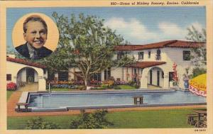 California Encino Home Of Mickey Rooney With A Pool