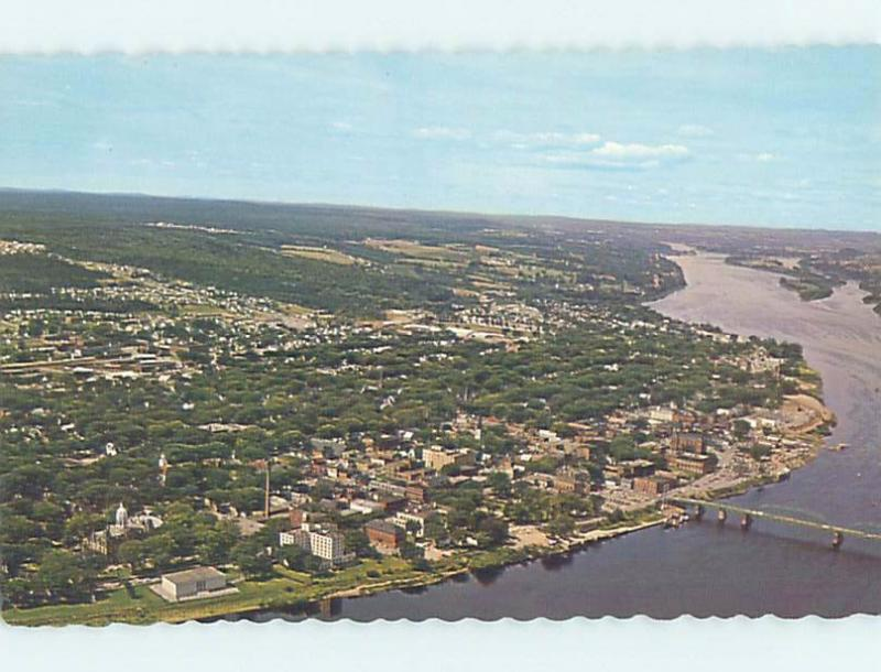 Unused Pre-1980 AERIAL VIEW OF TOWN Fredericton New Brunswick NB F8366