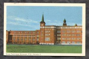dc546 - RIMOUSKI Quebec 1952 Ecole Technique Postcard