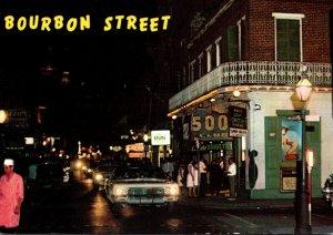 Louisiana New Orleans Bourbon Street At Night