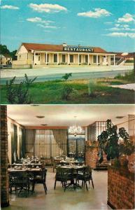 Batesville Arkansas~Powell's Motel & Restaurant~Inside & Out~1950s PC