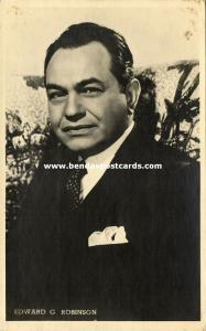 Jewish Actor EDWARD G. ROBINSON, Emanuel Goldenberg, Judaica (1930s) RPPC