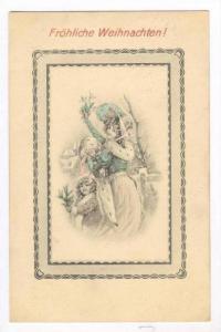 Christmas: Woman & child celebrate, PU-1909