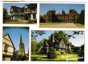 Postcard West Midlands Birmingham Historic Birmingham 4 views