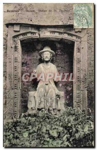 Old Postcard Beauvais Museum Statue of St Jacques