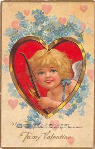 F31/ Valentine's Day Love Holiday Postcard c1910 Heart Cupid Nash 3