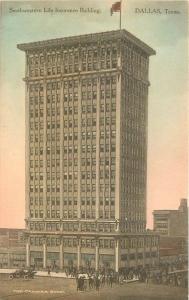 Auto C-1910 Dallas Texas Southwestern Life Insurance Building Flag Camera 7922