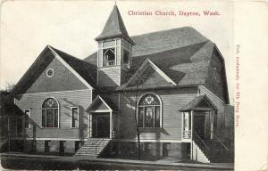 c1907 Printed Postcard;Christian Church, Dayton WA Columbia County, Posted