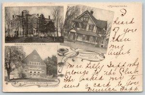 Monmouth College IL McQuiston Art Nouveau~Ornate Bldg w/Fence~Auditorium 1906 PC