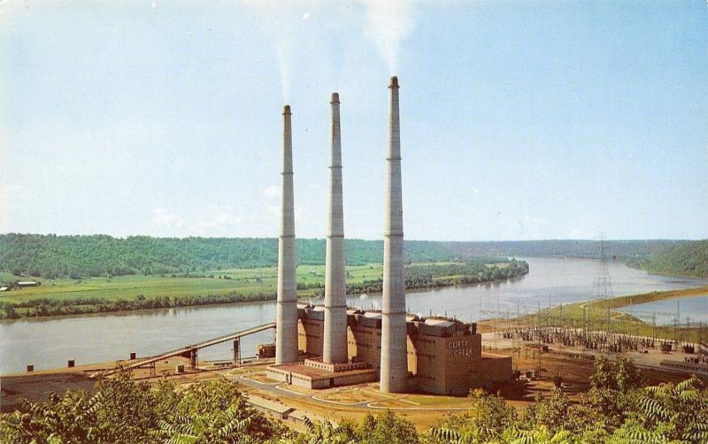 Madison~Indiana Kentucky Electric Corporation~Clifty Creek Power Plant~1960s PC