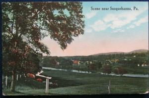 Scene Near Susquehanna PA 1917 Des Landscapes 602-32