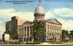 Illinois Springfield Sangamon County Court House Curteich