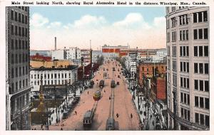 Main Street, Winnipeg, Manitoba, Canada, Early Postcard, Unused