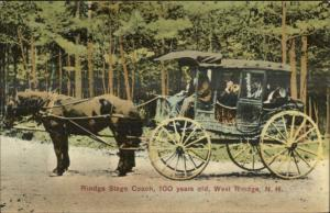 West Rindge NH Stage Coach c1910 Postcard