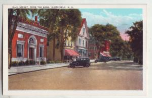 P784 old card scene old cars main street whitefield new hampshire