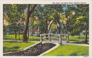 City Park And Band Shell, OTTAWA, Kansas, 1930-1940s