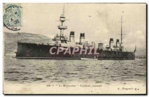 Old Postcard Boat Cruiser Montcalm armor